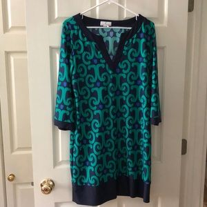 Jude Connally Emerald Ikat Holly dress